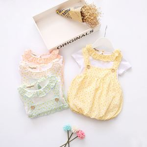 Picture of Sweet Faux 2-piece Overall Dress for Baby Girl
