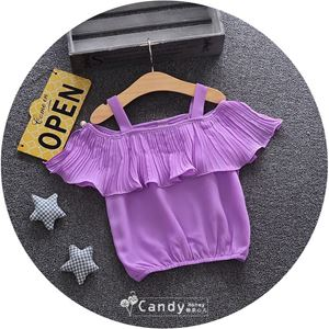 Picture of Fashionable Purple Chiffon Blouse for Girl