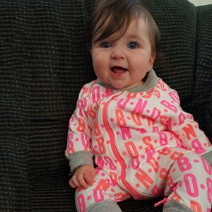 Picture of Adorable Words Patterned Baby Zip Jump Suit