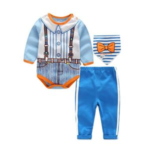 Picture of Stylish Drawing Unisex Baby Romper 3IN1