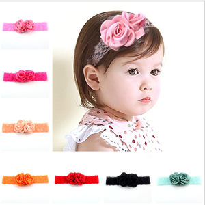 Picture of Delightful Floral Patterned Headband for Baby Girl Toddler