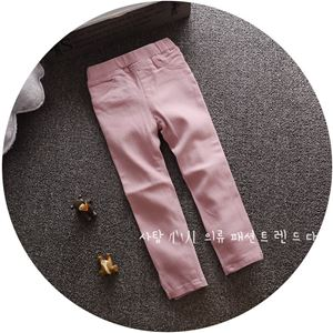 Picture of Trendy Soft PinkSolid Long Pants Legging for Girls