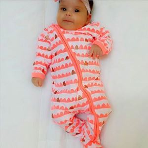 Picture of Adorable Patterned Unisex Baby Jump Suit