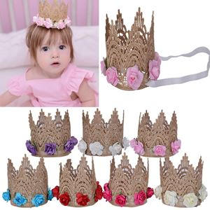 Picture of Adorable Crown with Floral Headband for Baby Girls Toddler