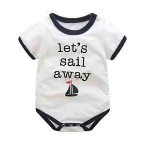 Picture of Stylish Navy Unisex Short Sleeve Baby Romper