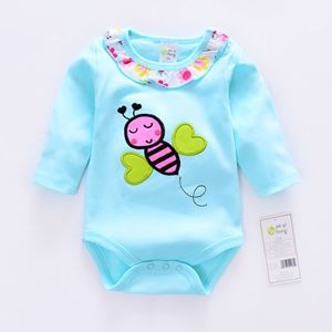 Picture of Adorable Cotton Butterfly Baby Girl Romper