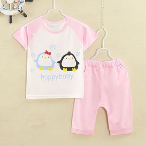 Picture of Cute Penguin Casual Wear Short Sleeve Set for Girl