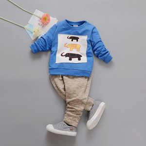 Picture of Cute Elephant Graphic Longsleeve Tee and Pants