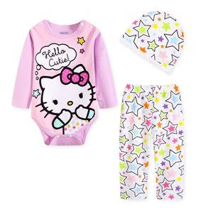 Picture of Cute Hello Kitty Baby Romper & Pant With Hat