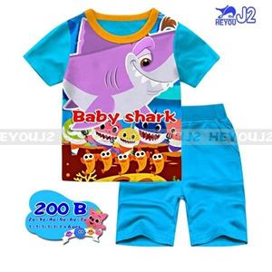 Picture of J2 Baby Shark Casual Wear with Short Pant Set (2-7Y)