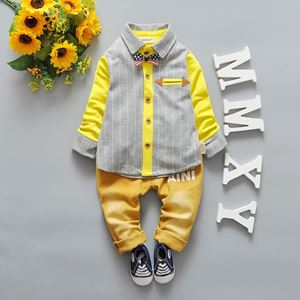 Picture of Stripe Tee and Pants with Bow Tie for Boys