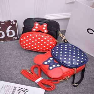 Picture of Adorable Minnie Mouse with Polka Dots Kids Girls Sling Bag