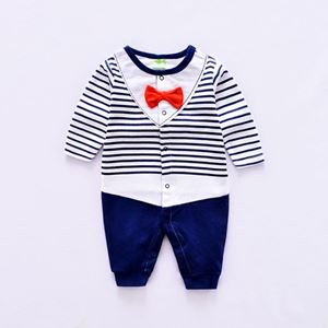 Picture of Handsome Striped Faux-two Jumpsuit For Baby Boy