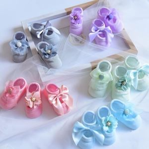 Picture of Korean Ribbon Flower Baby Socks Three Suit