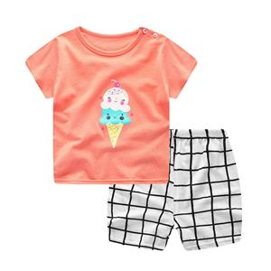Picture of Ice Cream  Short Sleeve Casual Wear Girl Clothing Set