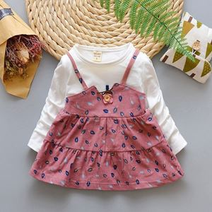 Picture of Floral Long Sleeved Dress for Toddler Girls