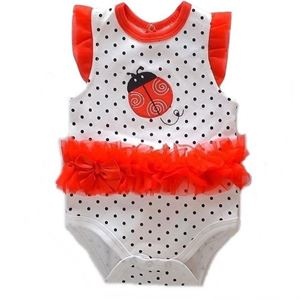 Picture of Adorable Sleeveless Ladybird With Polka Dots Baby Romper