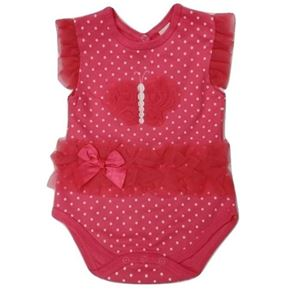 Picture of Adorable Sleeveless Buterfly With Polka Dots  Baby Romper