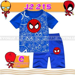 Picture of 2-Piece Spiderman Printed Short Sleeve Casual Wear Clothing Set (2-7y)