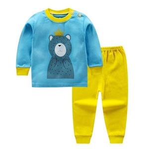 Picture of Blue Bear Pattern Top With Long Pant Pyjamas Sleepwear Set