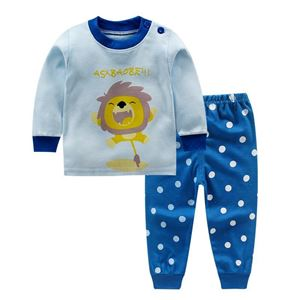 Picture of Blue Lion Pattern Top With Long Pant Pyjamas Sleepwear Set