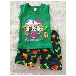 Picture of Cute Baby Shark Tank Top and Shorts Set