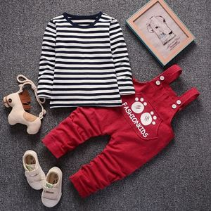 Picture of Bear Paw Boy Longsleeve Shirt Overall Suit Two-Piece Set