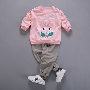 Picture of Sweater Rabbit Pattern Top With Long Pant Casual Wear Clothing Set
