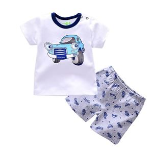 Picture of Car Printed Short Sleeve Casual Wear Two-Piece Clothing Set