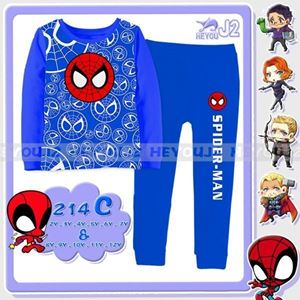 Picture of 2-Piece Spiderman Printed Casual Wear&Pyjamas Clothing Set