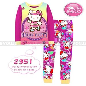 Picture of 2-Piece Hello Kitty Printed Casual Wear&Pyjamas Clothing Set (2-7y)