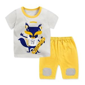 Picture of Two-Piece Golden Fox Printed Short Sleeve Casual Wear Clothing Set