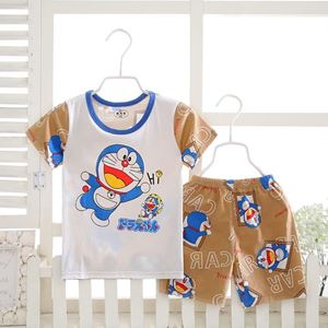 Picture of Doraemon Printed Short Sleeve Casual Wear Clothing Set